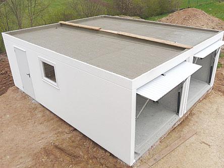 betongarage mit ovi modulhaus oben auf. Black Bedroom Furniture Sets. Home Design Ideas